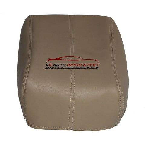 08 09 10 Ford F250 F350 Lariat Center Console Lid Cover Camel Tan - usautoupholstery