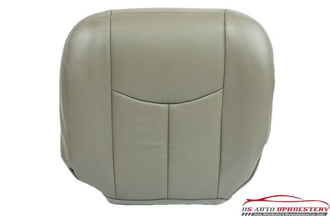 03-06 Chevy Avalanche 1500 Z71 LT Z66 Driver Side Bottom Leather Seat Cover Gray - usautoupholstery