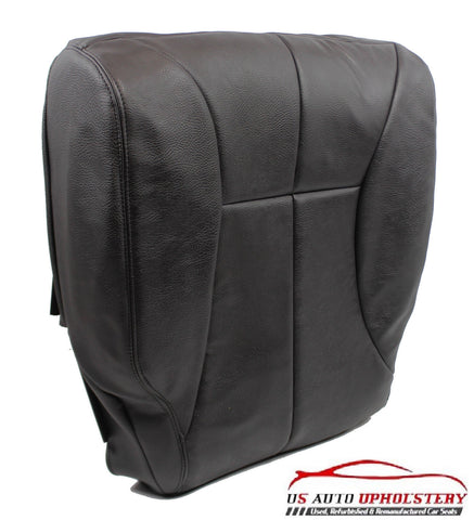 02 Dodge Ram 2500 Driver Side Bottom Synthetic Leather Seat Cover Dark GRAY - usautoupholstery