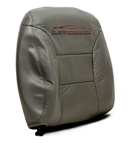 1995-1999 Chevy Suburban C/K LS LT Driver Side Lean Back Leather Seat Cover Gray - usautoupholstery