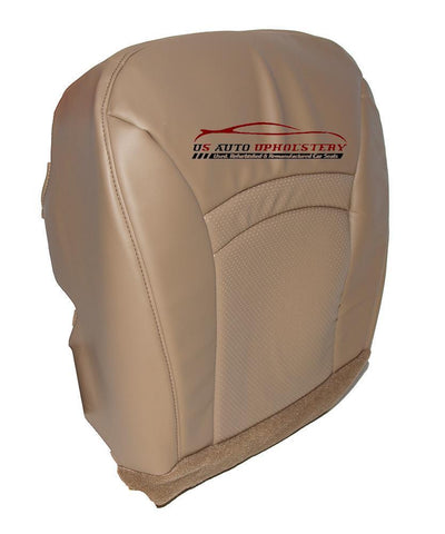 00-02 Ford E350 Econoline Chateau Driver Bottom Vinyl Perforated Seat Cover Tan - usautoupholstery