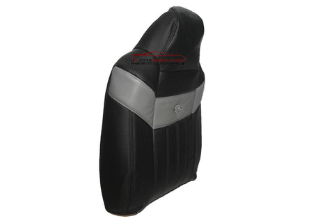 2004-2007 Ford F250 Harley Davidson Driver Lean Back Leather Seat Cover BLACK - usautoupholstery