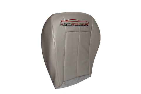 2006-2010 Chrysler 300 200 Driver Side Bottom Leather Seat Cover - Gray - usautoupholstery