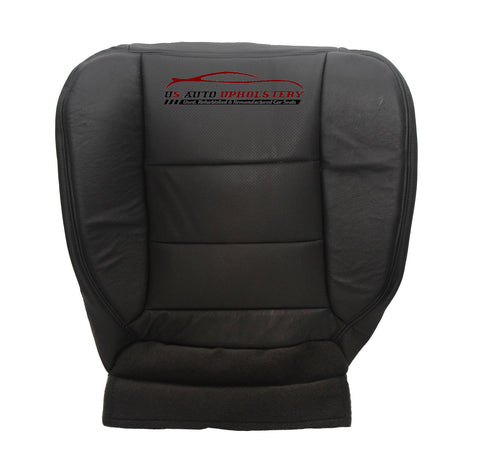 2001-2003 Ford F150 F250 F350 F450 Lariat Driver Bottom Leather Seat Cover Black - usautoupholstery