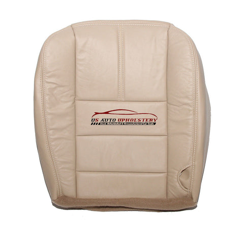 2008-2009 Ford F350 Lariat 4X4 Quad Driver Bottom LEATHER Seat Cover Camel Tan - usautoupholstery