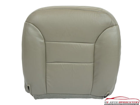 95-99 GMC Yukon SLT Z71 Sport SLE -Driver Side Bottom Leather Seat Cover GRAY- - usautoupholstery