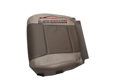2007 Ford Explorer Driver Side Bottom Replacement Leather Seat Cover 2 tone Gray - usautoupholstery