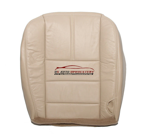 08 2009 Ford F250 Lariat Passenger Bottom Synthetic Leather Seat Cover Camel Tan - usautoupholstery