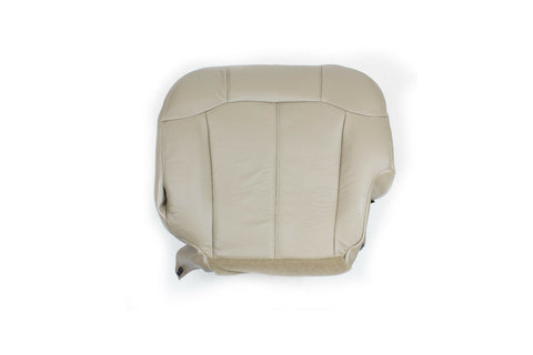 99 00 01 02 Chevy Silverado Driver Leather Seat Cover LH Bottom Med Neutral Tan - usautoupholstery