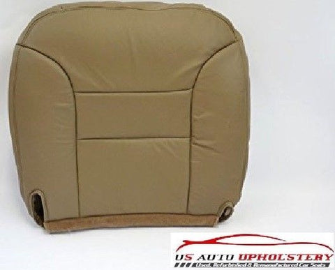 95-99 GMC Suburban 1500 -Driver Side Bottom Replacement LEATHER Seat Cover TAN - usautoupholstery