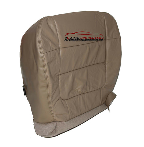2002 Ford F150 Lariat DRIVER Bottom Replacement Leather Seat Cover - TAN - usautoupholstery