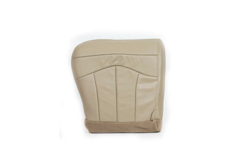 2001 01 Ford F150 Lariat DRIVER Side Bottom Replacement Leather Seat Cover - TAN - usautoupholstery