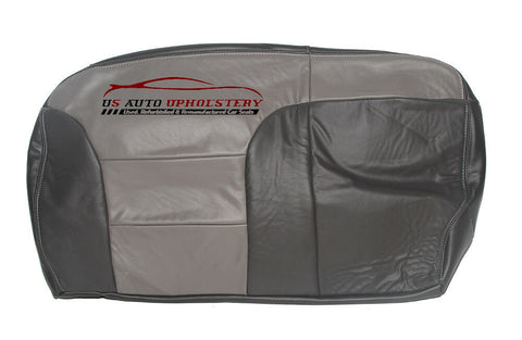 2000 Chevy Tahoe Limited Second Row Bench Bottom Leather Seat Cover 2 Tone Gray - usautoupholstery