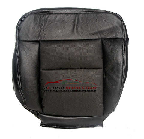 2004 2005 Ford F-150 Lariat Driver Bottom Perforated Leather Seat Cover Black - usautoupholstery