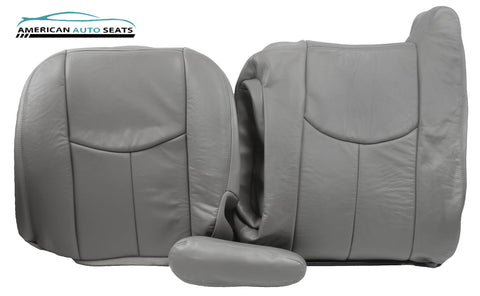 2006 Chevy Silverado -Passenger COMPLETE Replacement Leather Seat Covers GRAY - usautoupholstery