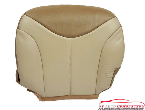 2001 GMC Sierra C3 Denali Quad Super Cab Driver Bottom Leather Seat Cover Tan - usautoupholstery