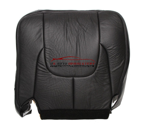 2003 Ram 3500 Laramie DRIVER Side Bottom Leather Seat Cover Dark Gray - usautoupholstery