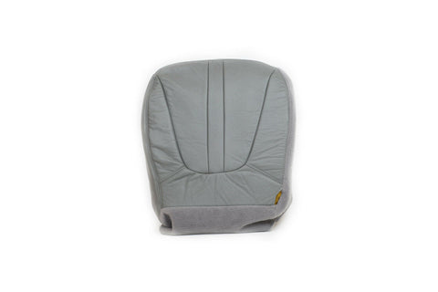 1997-1999 Ford Expedition Eddie Bauer Driver Side Bottom Leather Seat Cover GRAY - usautoupholstery