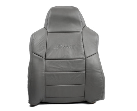 2005 Ford Excursion Limited 6.0L Diesel Driver Lean Back Leather Seat Cover Gray - usautoupholstery