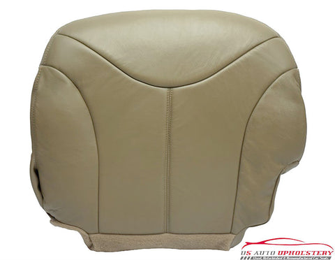 2000 GMC Sierra 1500 HD 2500 HD 3500 SLT Driver Bottom LEATHER Seat Cover TAN - usautoupholstery