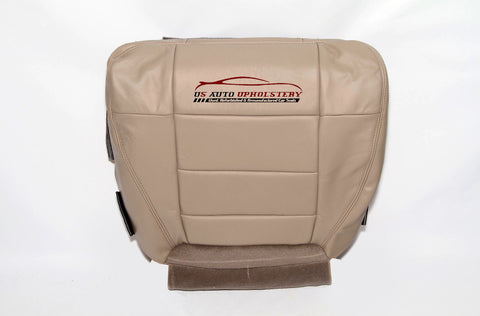 2003 Ford F150 Lariat Super Crew Driver Bottom Leather Seat Cover Parchment TAN - usautoupholstery