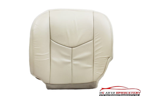 2003 2004 Cadillac Escalade Driver Side Bottom Perforated Leather Seat Cover Tan - usautoupholstery