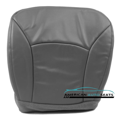 2000-2002 Ford E350 XL Cargo Van -Driver Side Bottom PERFORATED Seat Cover GRAY - usautoupholstery