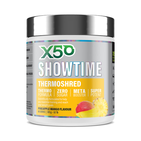 X50 SHOWTIME THERMOSHRED PINEAPPLE MANGO