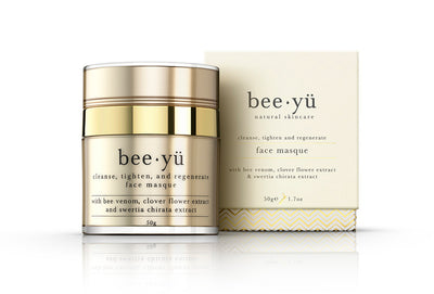 bee venom face mask by natural skincare brand bee yü