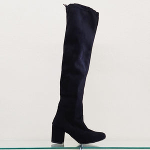 Over-the-Knee Black Heeled Boots