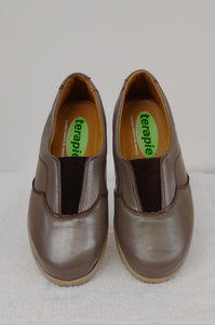 Bronze Slip-On Therapeutic Shoe