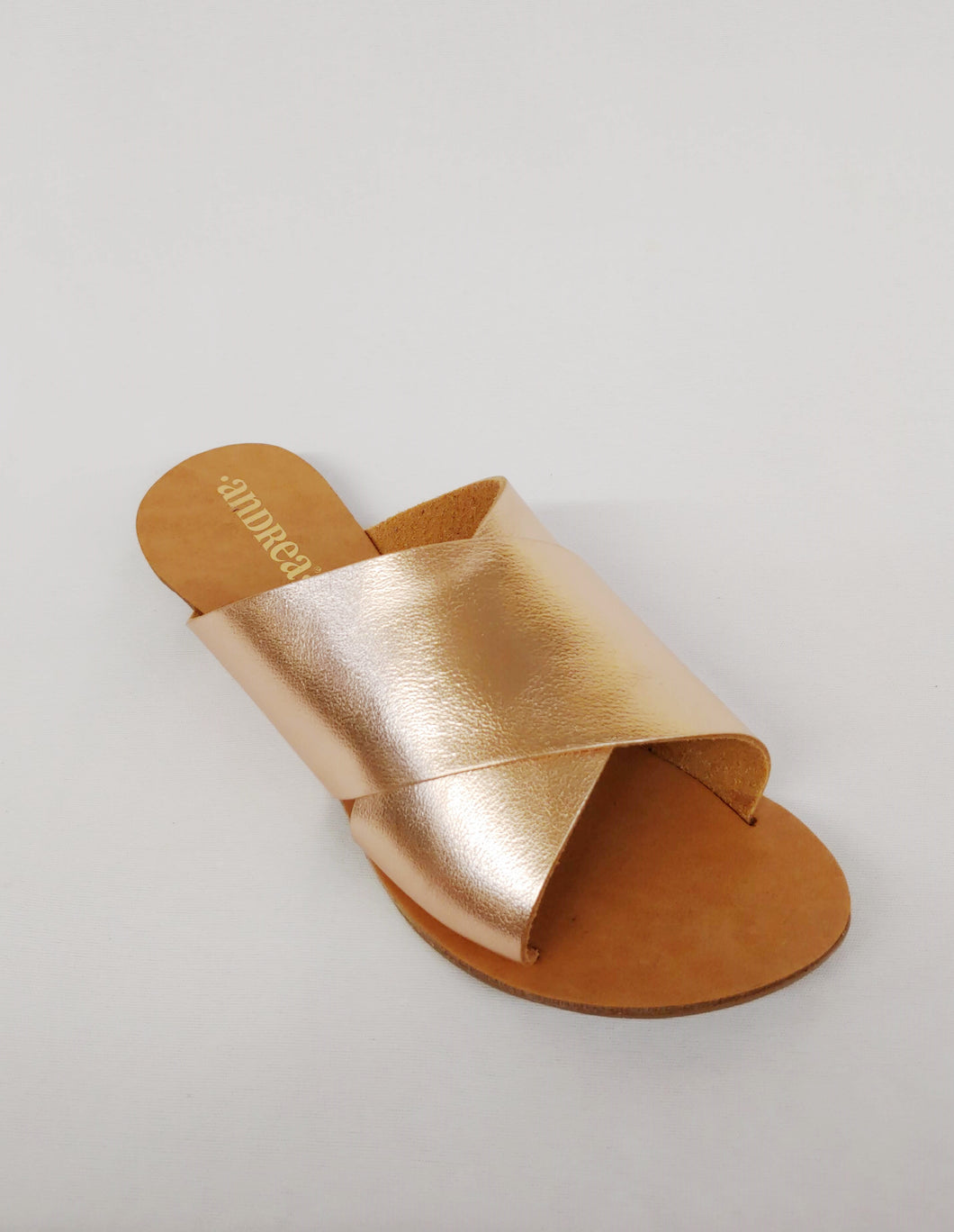 Andrea® Rose Gold Sandals
