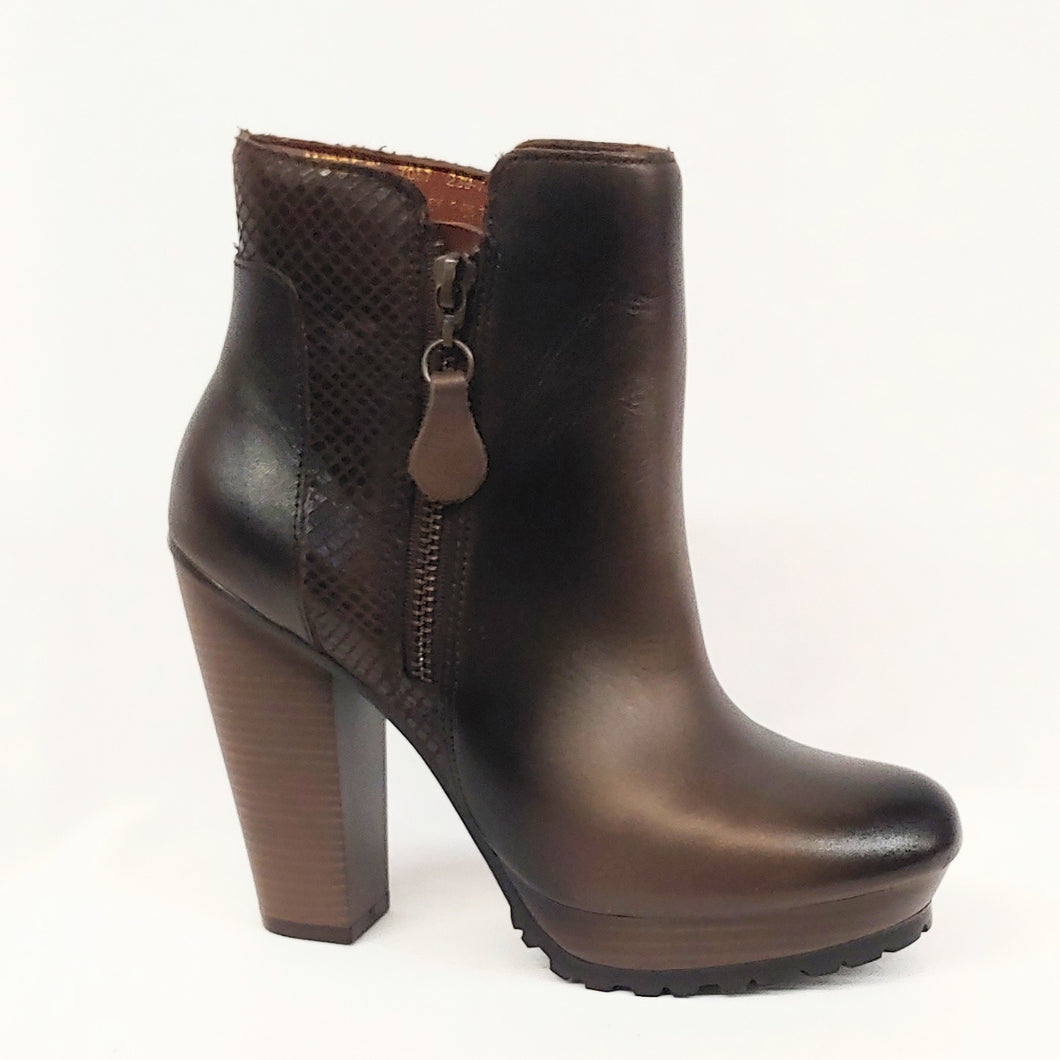 Andrea Brown Ankle Boot