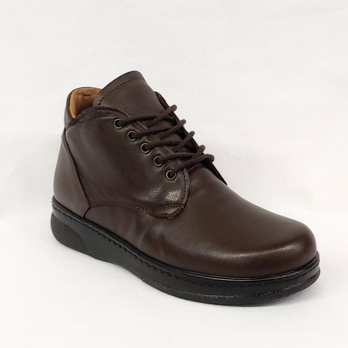 Brown Lace-up Therapeutic Boot