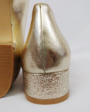 Gold Pointy Glittered Short Heels