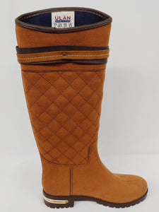 Womens Honey Brown Water Resistant Rain Boot