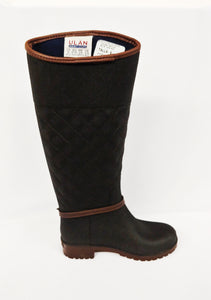 Womens Black Water Resistant Rain Boot