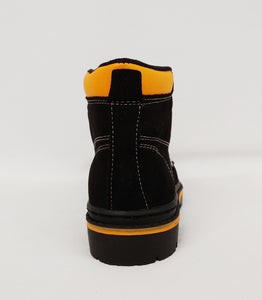 Boys Black with Orange Ankle Boot
