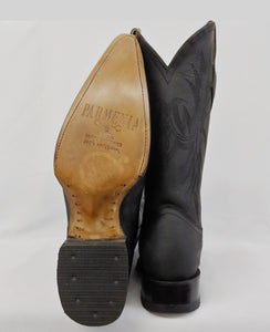 Mens Black Pointy Toe Cowboy Boot