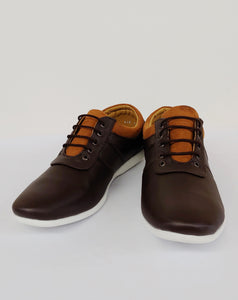 Brown and Honey Colored Sneaker