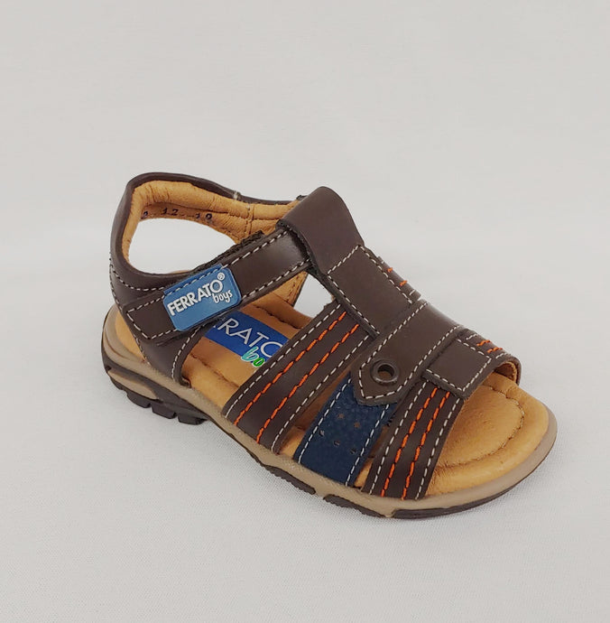 Ferrato® Boys Brown Leather Sandals