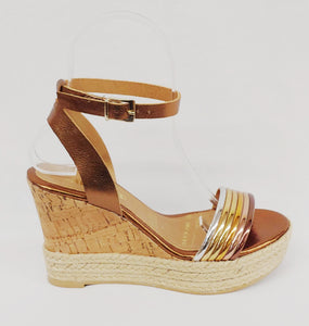 Andrea® Bronze Wedge Sandals