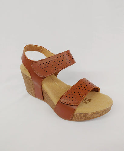 Andrea® Brown Wedge Padded Sandals