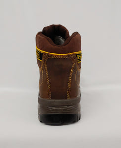 Brown Lace-Up Steel Toe Cap Ankle Boot
