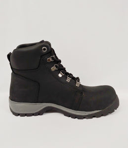 Black Steel Toe Cap Ankle Boot