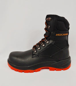 Black with Orange Compsite Toe Cap Work Boot