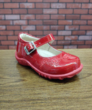 Dogi® Girls Red Patent Leather Shoes with Buckle Strap