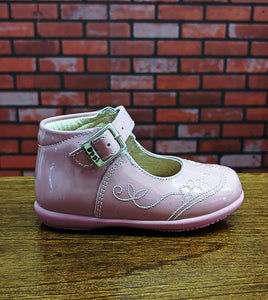 Dogi® Girls Patent Leather Rosy Pink Shoes with Buckle Strap