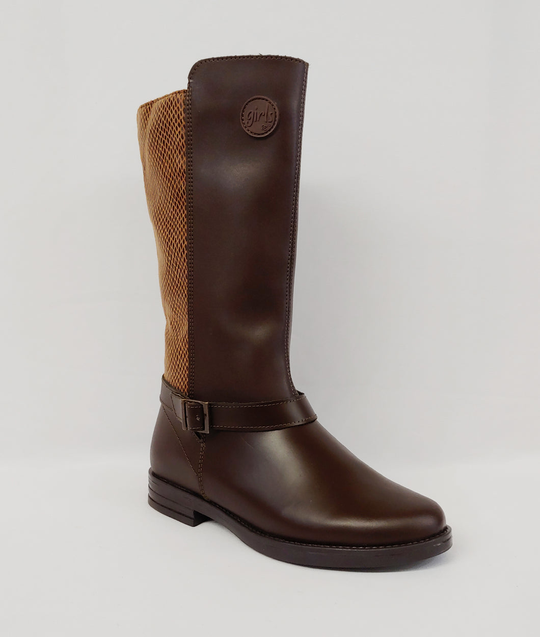 Andrea® Girls Tall Brown Boots