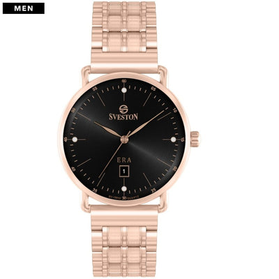 Sveston Ontario Royal Sv-19013 Black-Rose Gold Stone